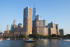 Downtown Manhattan New York City Skyline Stock Images