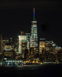 Downtown Manhattan at Night Royalty Free Stock Image