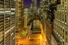 Downtown Manhattan at Night Royalty Free Stock Image