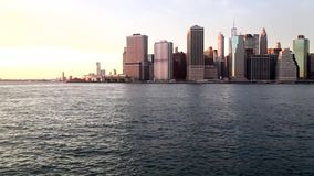 Downtown Manhattan Pan stock video