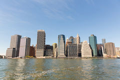 downtown manhattan panorama Royalty Free Stock Photo
