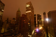 Downtown Manhattan Power outage due to Sandy. Downtown Manhattan Power outage due to Hurricane Sandy Royalty Free Stock Image