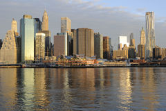 Downtown Manhattan Skyline Royalty Free Stock Photo