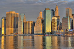 Downtown Manhattan skyline Royalty Free Stock Images