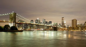 Downtown Manhattan Skyline Stock Image