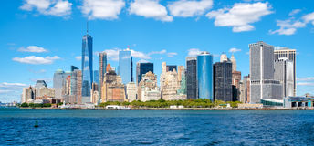 The downtown Manhattan skyline Stock Photography