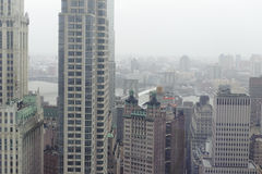 Downtown manhattan skyline. Shot of new York city downtown skyline Stock Images