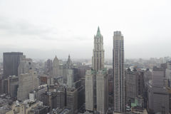 Downtown manhattan skyline Stock Image