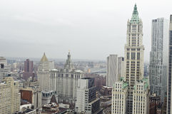 Downtown manhattan skyline Stock Photography