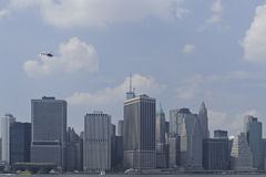 Downtown manhattan skyline Stock Photos