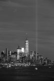 Downtown Manhattan skyline at sunset Royalty Free Stock Image