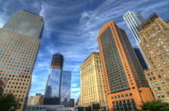 Downtown Manhattan Skyscrapers Royalty Free Stock Images