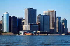 Downtown Manhattan. A view of Downtown Manhattan from Governors Island Royalty Free Stock Images