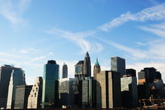 Downtown Manhattan on a Winters day. A Veiw of Downtown Manhattan on a winters day Royalty Free Stock Image