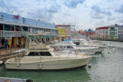 Downtown marina of Bridgetown, Barbados Stock Images