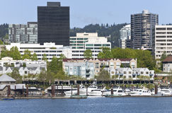 Downtown Marina, Portland Oregon. Stock Images