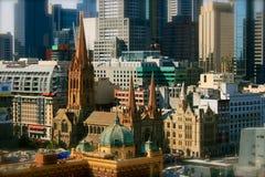 Melbourne Downtown, Australia Royalty Free Stock Photo