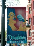 Downtown Memphis Sign and Marker stock images