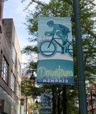 Downtown Memphis Sign and Marker royalty free stock photos