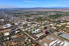 Downtown Mesa, Arizona From Above Stock Photo