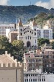 Downtown Messina from the Queen Elizabeth. As she was leaving port Royalty Free Stock Photos