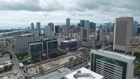 Downtown Miami aerial drone video footage stock video footage