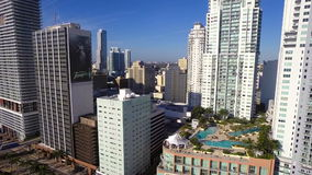 Downtown Miami Aerial video stock video footage