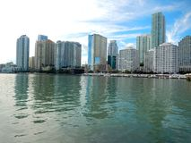 Downtown Miami along Biscayne Bay Royalty Free Stock Image
