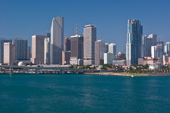 Downtown Miami Bayfront Condo and Office Buildings Royalty Free Stock Photo