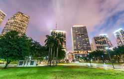 Downtown Miami - Bayfront Park.  Royalty Free Stock Image