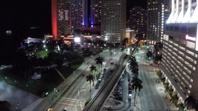 Downtown Miami and Bicentennial Park stock footage