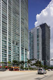 Downtown Miami at Biscayne Boulevard Royalty Free Stock Photo