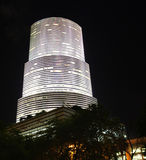 Downtown Miami Brickell. At an Angle. Shot with canon 17-40mm L lens at night Stock Photo