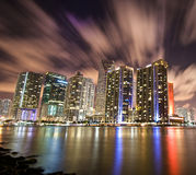 Downtown Miami from Brickell key. A view of downtown miami from the brickell key royalty free stock image