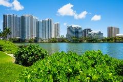 Downtown Miami Cityscape Stock Photos