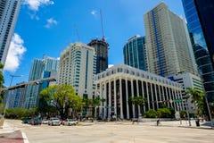 Downtown Miami Cityscape Stock Image