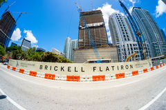 Downtown Miami Construction Stock Photography