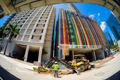 Downtown Miami Construction Royalty Free Stock Photo
