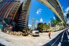 Downtown Miami Construction Stock Images