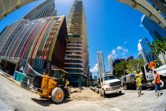 Downtown Miami Construction Royalty Free Stock Photography