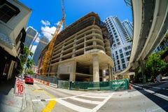 Downtown Miami Construction Stock Photo