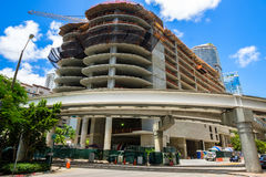 Downtown Miami Construction Royalty Free Stock Image