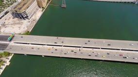 Downtown Miami drone aerial Royalty Free Stock Photo
