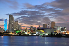 Downtown Miami at dusk Stock Image