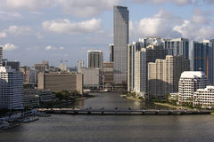 Downtown Miami Editorial Aerial Royalty Free Stock Images