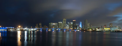 Downtown Miami (panoramic) Stock Photo