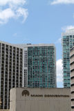 Downtown miami highrises Royalty Free Stock Photography