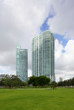 Downtown Miami and Museum PArk. Stock image taken from Museum Park of Downtown Miami Stock Images