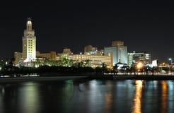 Downtown Miami at night Stock Image
