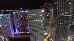 Downtown Miami at night 360 Stock Photography